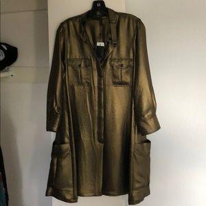 "BCBG ""Emilee"" metallic shirt dress"